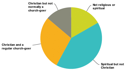 4 categories of people pie chart